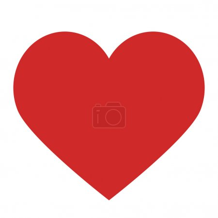 Photo for Heart isolated on white and clipping pach, flat design style love symbol - Royalty Free Image