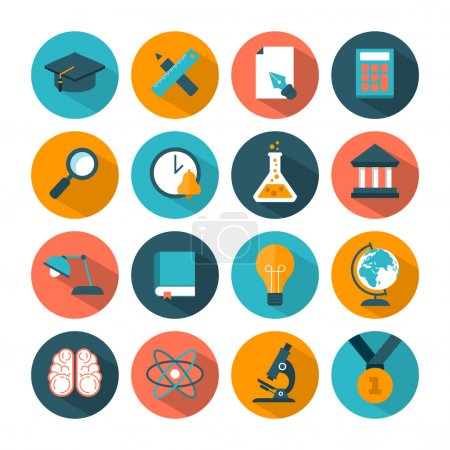 Set of modern education icons