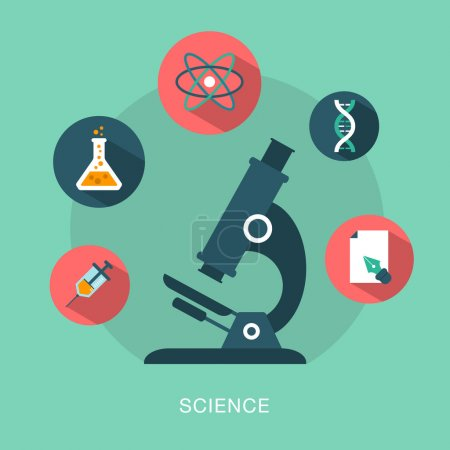 Illustration for Vector science concept illustration - Royalty Free Image