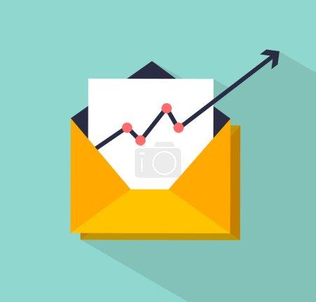 Illustration pour Illustration vectorielle de concept d'email marketing - image libre de droit