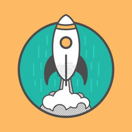 Rocket launching up