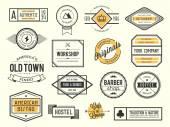 Set of vintage logos badges and labels