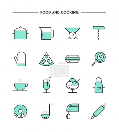 set of food and cooking icons