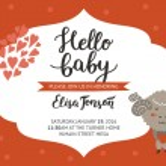 Постер, плакат: Baby shower girl and boy invitation
