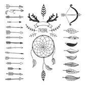 Vector Tribal design elements aztec symbols arrows