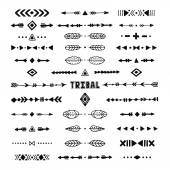 Hand drawn tribal collection with stroke line arrow