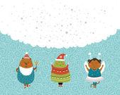 Vektorové Vánoce a nový rok pozadí