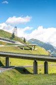 Highway to the Gotthard pass (Switzerland)