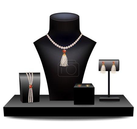 Set of jewelry on dummies