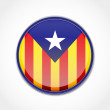 Catalonia Flag Vector button. Element isolated....