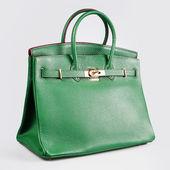 Zelené Dámské kabelky na bílém pozadí