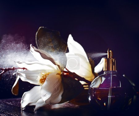 Photo for Perfume and flowers - Royalty Free Image