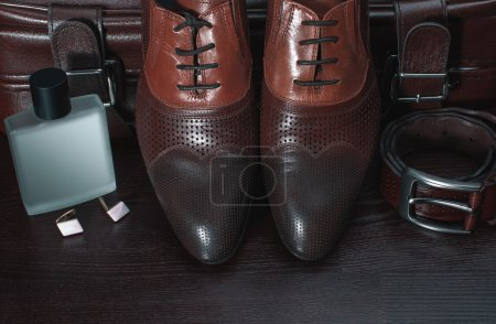 Photo for Men fashion. Men accessories, Still life. Business look. - Royalty Free Image