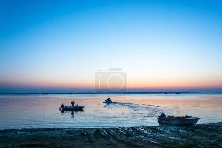 Dawn on the Volga.