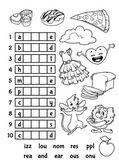 Educational rebus game for preschool kids