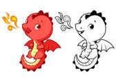 Cute little red dragon