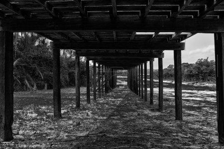 Way under wooden construction