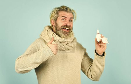 Cold flu remedies. Runny nose and other symptoms o...