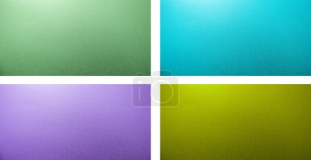 set of 4 colors metallized backgrounds