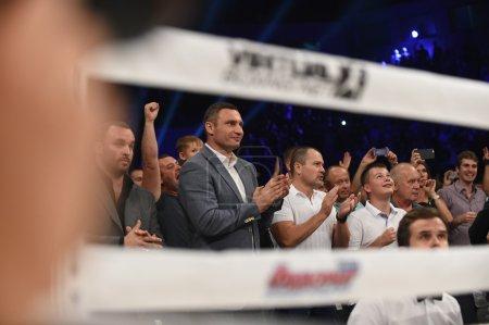Vitali Klitschko  during fight for WBO Inter-Continental cruiserweight title