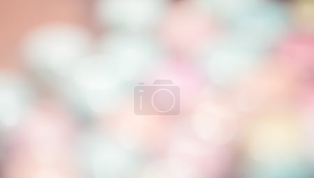 Photo for Beautiful empty with no people bokeh light background pink and white colors pastel colors on blurred backdrop - Royalty Free Image