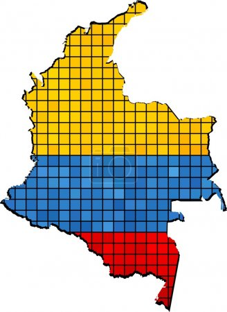 Colombia map grunge mosaic