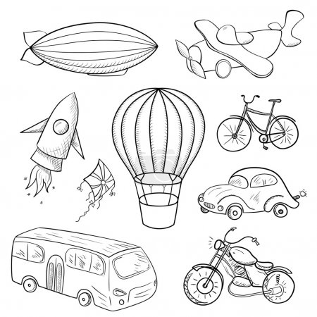 Sketches means of transport