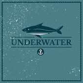 Label underwater fish