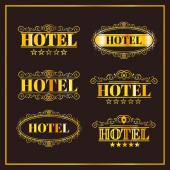 Hotel vintage golden labels