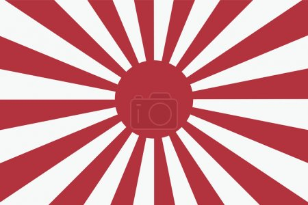 Sixteen Sun rays of Japanese navy flag 2