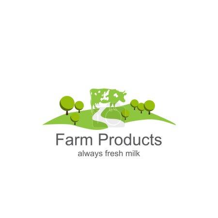Dairy farm product logo