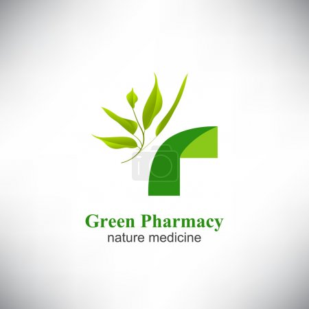 Illustration for Vector. Medicine Health care Logotype. Ecology Green Healthcare icon. Vector Illustration - Royalty Free Image