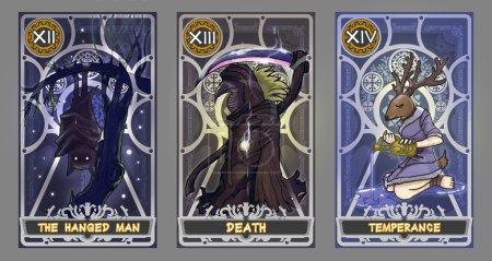 Tarot card illustration set