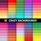 Crazy color gradient background pack Vector element