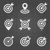 Target icons pack for business mobile interface