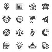 Módní ikony podnikání a ekonomie sada 1. Vektor