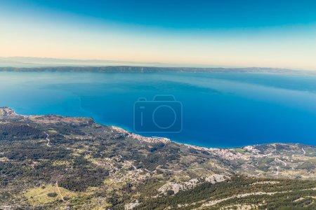 View On The Makarska Riviera Coastline From Biokov...