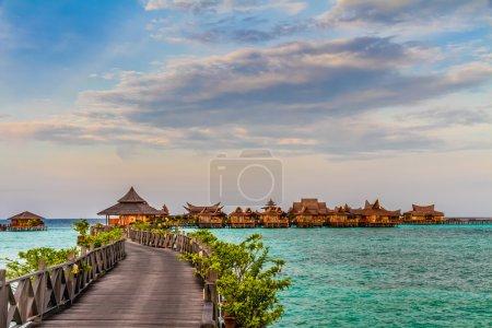 Water bungalows at Mabul Island - Borneo, Malaysia