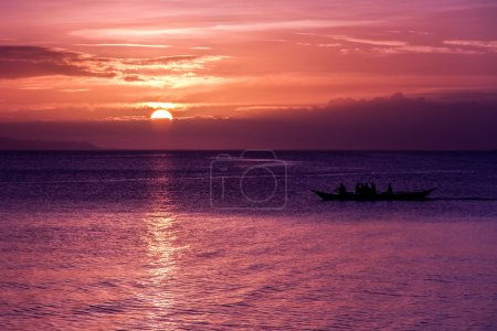 Pink Sunset with Colorful Clouds-Philippines