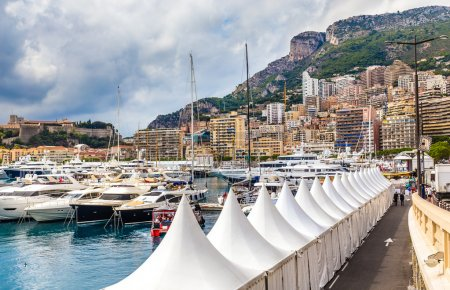Buildings and Yachts in Monte Carlo,Monaco