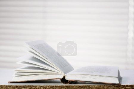 Photo pour Livre ouvert de la fenêtre - image libre de droit