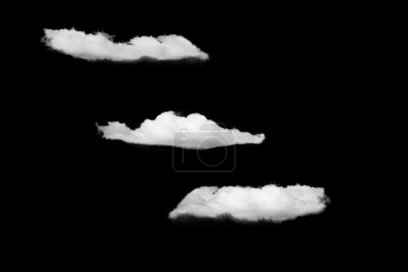 Clouds isolated on black