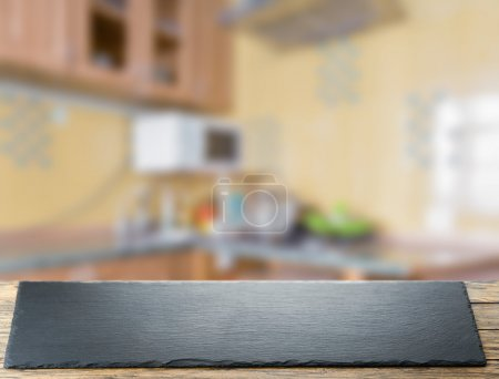 Photo for Modern kitchen background, appliance and furniture - Royalty Free Image