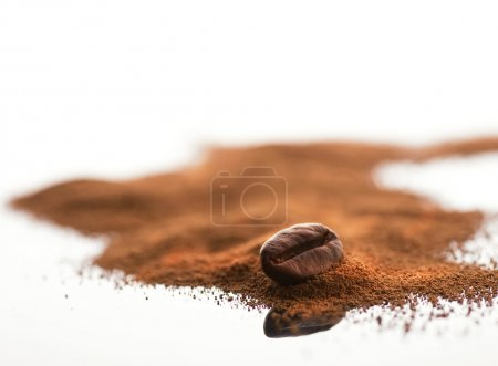 Coffee bean and ground coffee