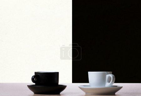 Black and white coffee cupc