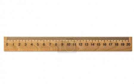 One Wooden ruler