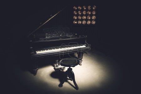 Vintage retro-styled Piano