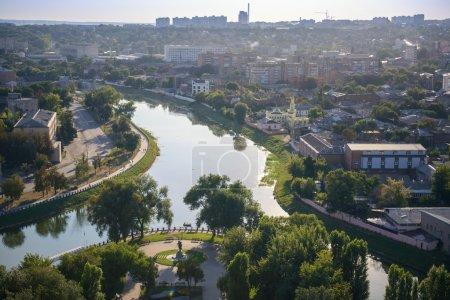 Photo pour Ukraine, Kharkov, rivière Lopan. Vue du dessus - image libre de droit