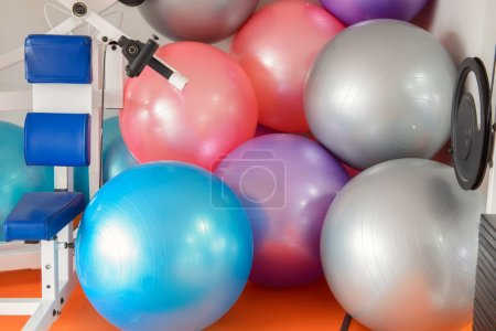 Colorful fitness balls