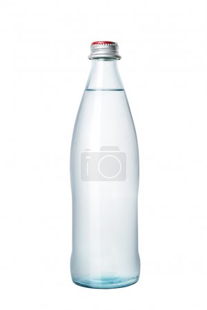 Glass bottle of water